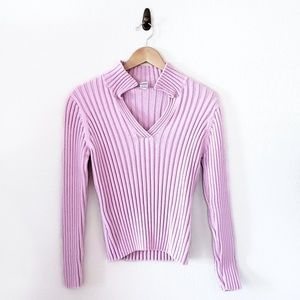 GAP Cotton Wide Ribbed V-Neck Sweater